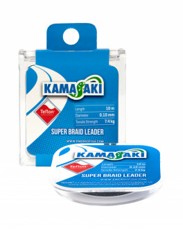 Поводковый материал Kamasaki Super Braid Leader Teflon 0,25mm 10m 20,7kg Grey
