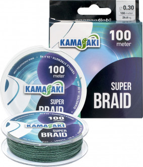 Шнур Kamasaki Super Braid 0,30mm 100m 26,60kg