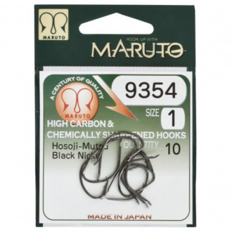 Крючки Maruto 9354 Black Nickel №1/0