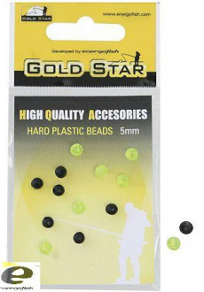 Бусинка GOLD STAR HARD PLASTIC BEADS 3мм